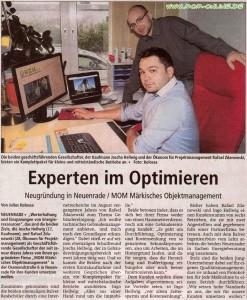 Zeitungsartikel Märkisches Objektmanagement